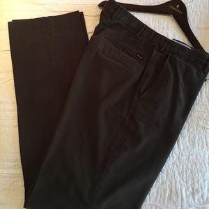 Faconnable Flat Front Oxford Pants